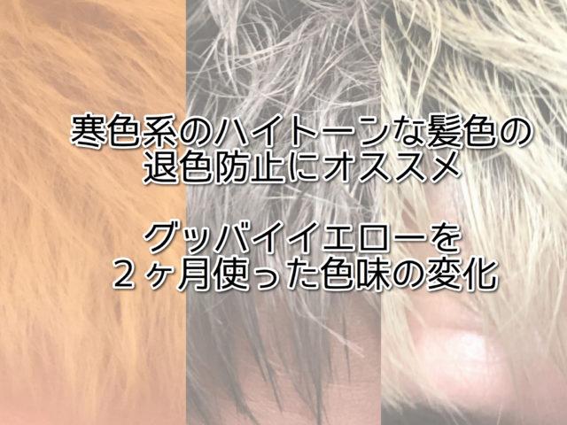 寒色系のハイトーンな髪色の退色防止にオススメ