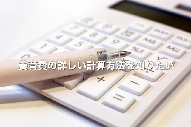 養育費の詳しい計算方法を知りたい